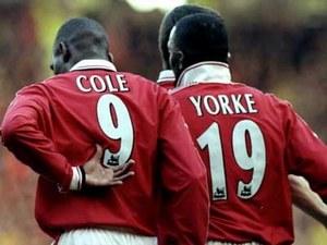 Энди Коул и Дуайт Йорк в Манчестер Юнайтед