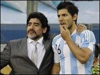 Диего Марадона и Серхио Агуэро