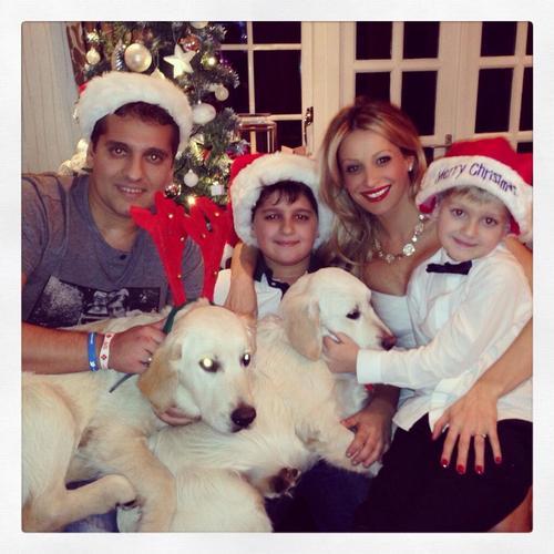 Стилян Петров с семьей