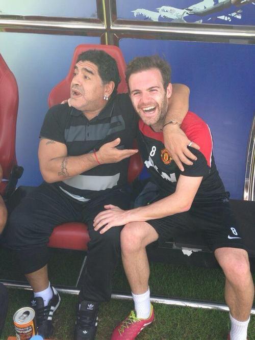 Диего Марадона и Хуан Мата