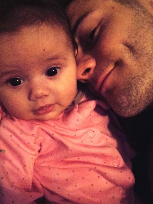 Джек Уилшир с дочкой