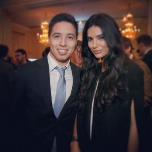 Самир Насри с девушкой
