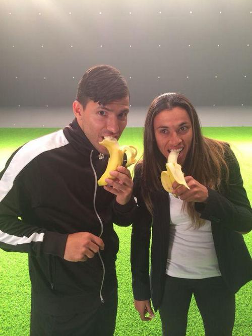 Серхио Агуэро и Марта
