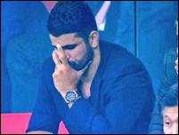 Диего Коста на матче Атлетико и Челси