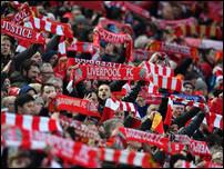 Болельщики Ливерпуля