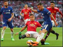 Эден Азар в матче против Манчестер Юнайтед