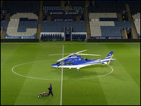 Кинг Пауэр и вертолет владельца клуба