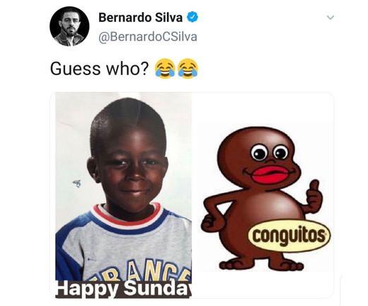 Твит Бернарду Силвы