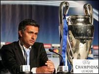 Жозе Моуриньо и трофей Лиги Чемпионов