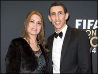 Анхель Ди Мария с женой