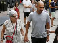 Хосеп Гвардиола с мамой