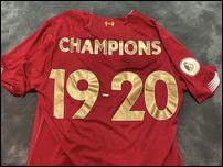 Чемпионская футболка Ливерпуля