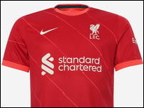 Новая домашняя форма Ливерпуля на сезон 2021/22