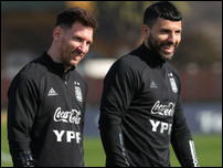 Лионель Месси и Серхио Агуэро