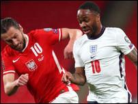 Сборная Англии против сборной Польши