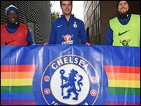 Челси и радужный баннер